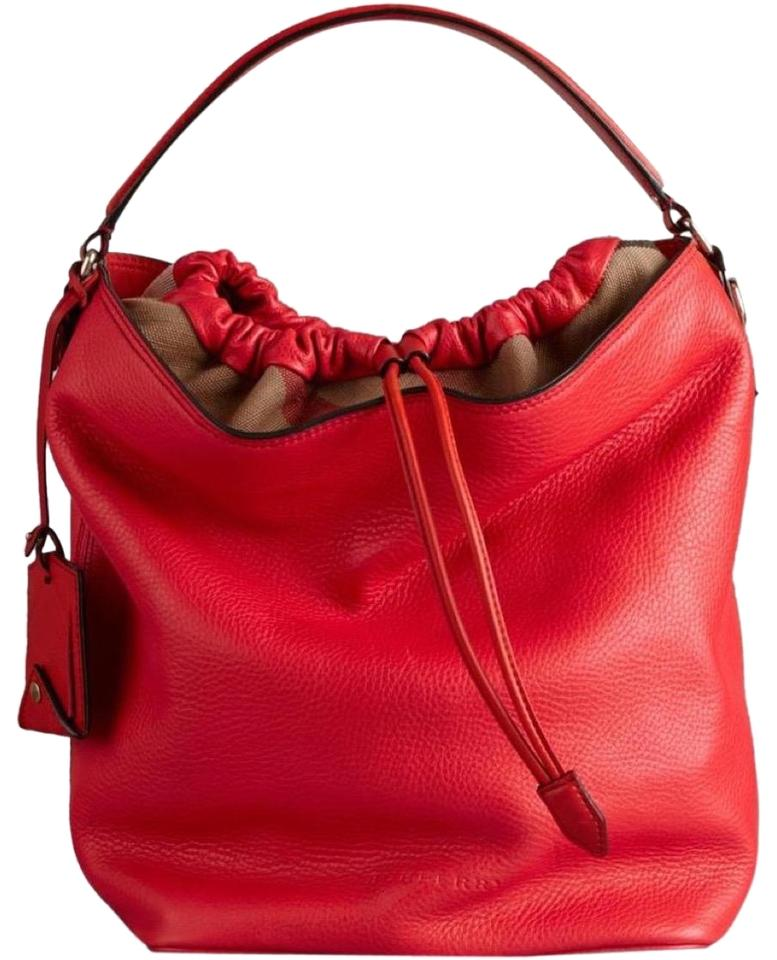 14a5006270b1 Burberry Flash-sale Brit Medium Ashby Cadmium Red Leather Hobo Bag ...
