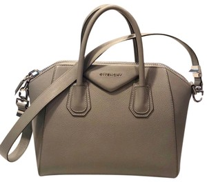 ded73b751d66 Givenchy Khaki Embossed Medium Antigona Brown Leather Satchel - Tradesy