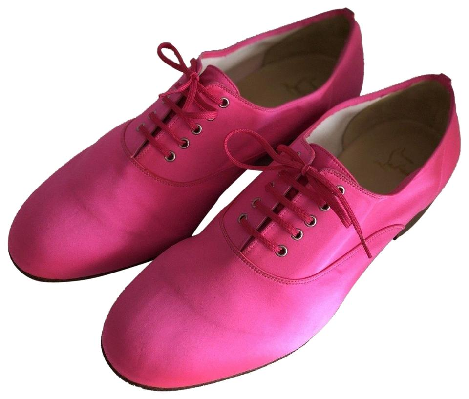 0359040f74558 Christian Louboutin Hot Pink Satin Mens Alfred Flats 44eur/11us Formal Shoes