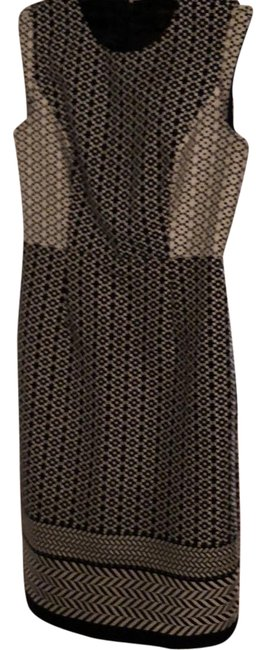 Item - Black and White Mid-length Work/Office Dress Size 4 (S)