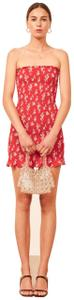 Reformation short dress red Chantilly Mini Strapless Classic on Tradesy