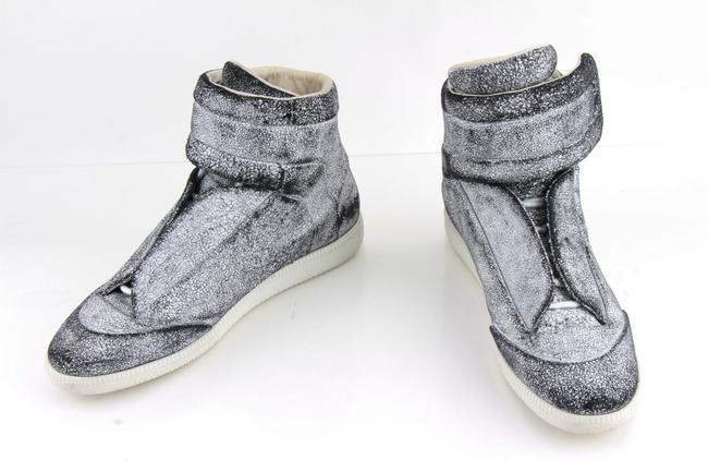 Item - White Black Leather Future High Top Sneakers Shoes