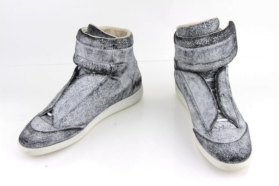 14314d82a20 Maison Margiela White Black Leather Future High Top Sneakers Shoes 16% off  retail