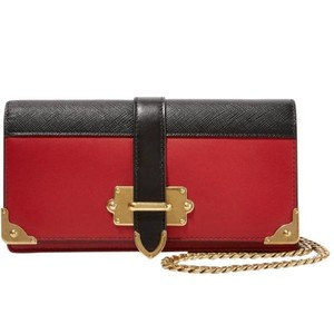 Prada Prada Cahier smooth and textured-leather shoulder bag