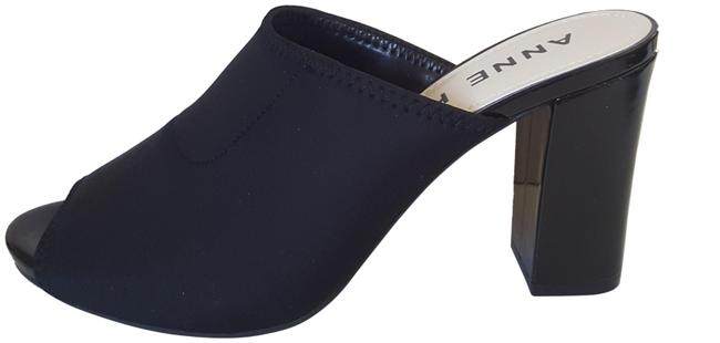 Item - Black Ostrid Mules/Slides Size US 8 Regular (M, B)