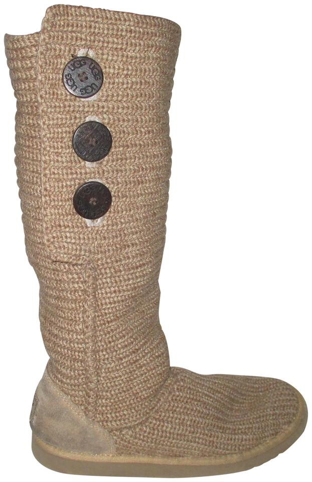 aadd708ad UGG Australia Tawny Beige Classic Cardy 5819 Tall Boots/Booties. Size: US 8  ...