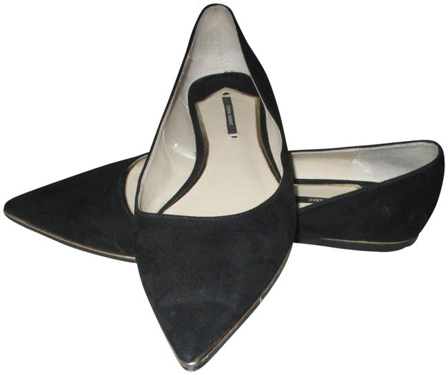 Item - Black Pointed with Ring Heels Flats Size EU 41 (Approx. US 11) Regular (M, B)