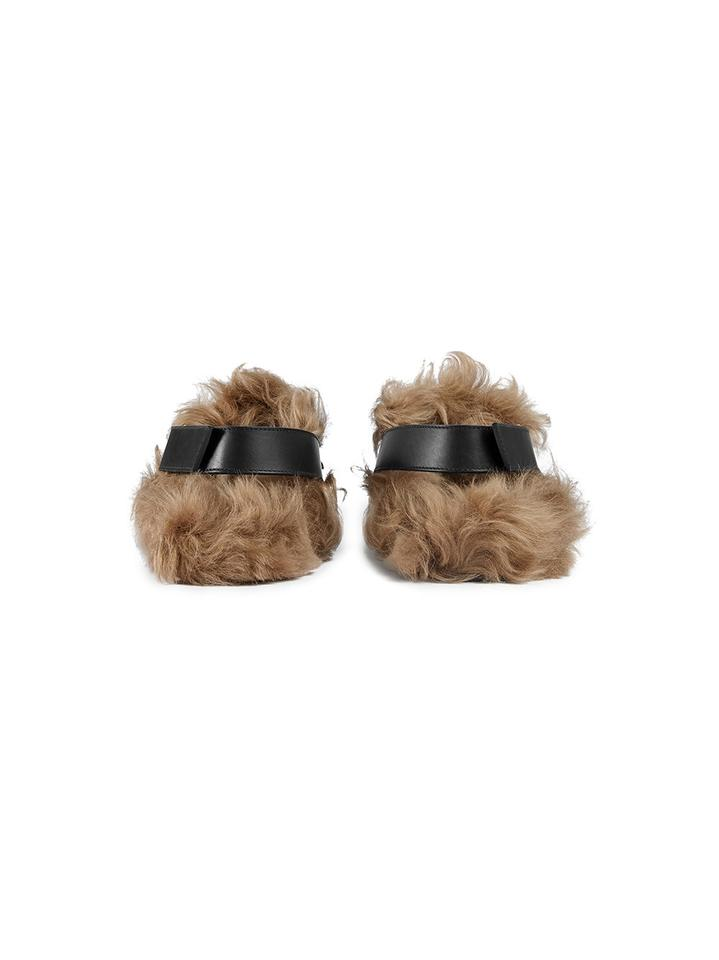 6c53834b5 Gucci Fur Princetown Angry Cat River Slippers Black Mules Image 7. 12345678