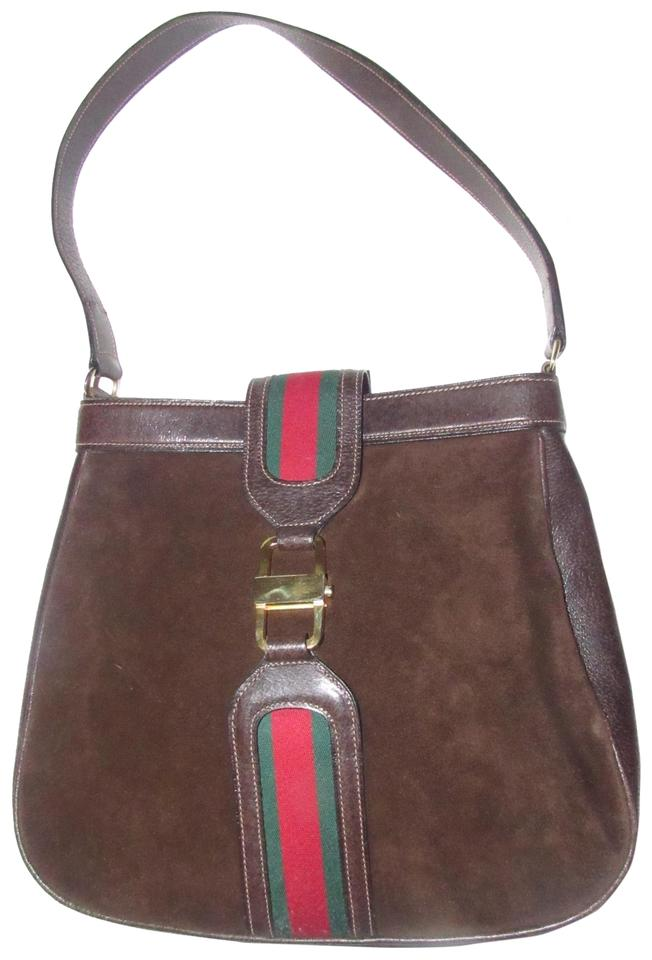 ea0a9b058def Gucci True 1960 s Mod Mint Vintage Early  jackie  Suede Leather Rare  Vintage Style ...