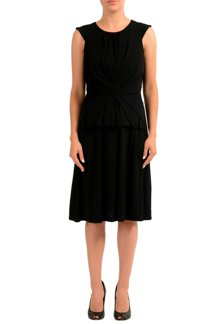 Item - Black V-11915 Mid-length Short Casual Dress Size 4 (S)