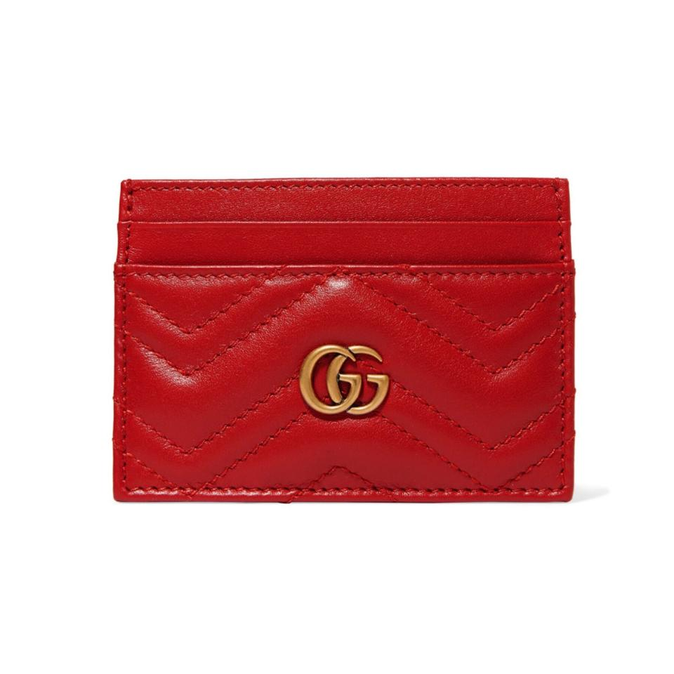 b3b05a01871f93 Gucci Marmont Quilted Leather Card Holder Wallet - Tradesy