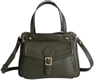 Annabel Ingall Military Dominic Leather Satchel in Green
