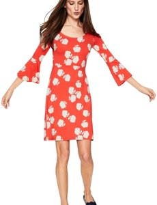 Coral and white Maxi Dress by Boden