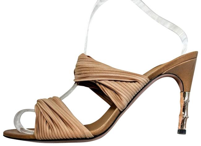 Item - Nude Twisted Bamboo Mules/Slides Size EU 39 (Approx. US 9) Regular (M, B)