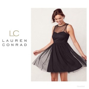 LC Lauren Conrad Tulle Sweetheart Fit & Flare Sleeveless Swiss Dot Dress