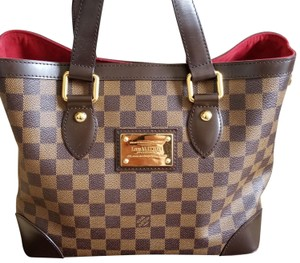 Louis Vuitton Vintage Like New Leather Hampstead Tote in Brown