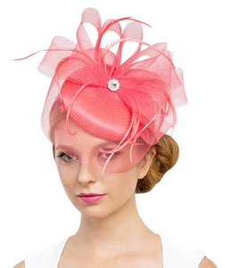 f54a85d2b523 kentucky derby hat New Kentucky Derby dressy Formal church hat Feather  Fascinator Hat