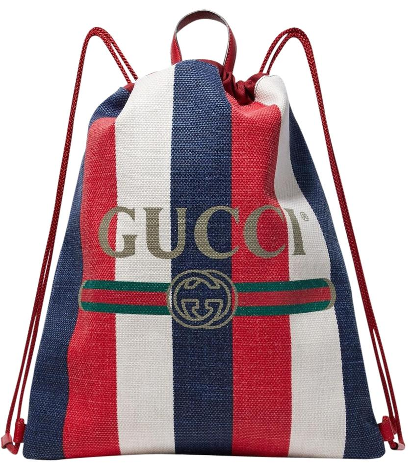 95b80b78ac4 Gucci Leather-trimmed Printed Multiple Colors Leather and Canvas ...