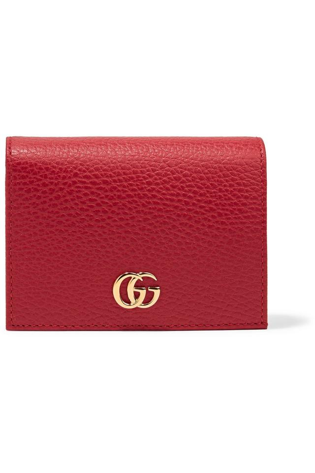 b53afcb9751d Gucci Red Marmont Petite Texture Leather Wallet - Tradesy