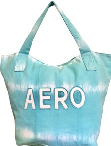 Aéropostale Bundle Huge Savings All Aero Giant Tote In Sky Blue Tie Dye Stripe