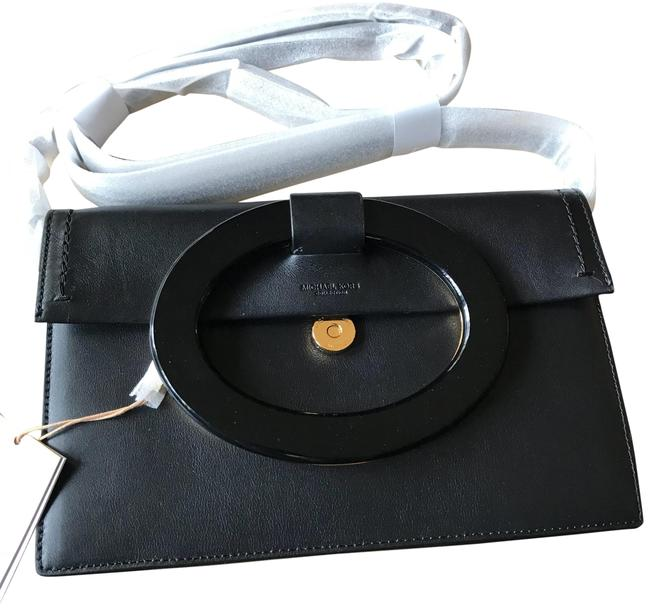 Item - Clutch Baxter French Crosby/Clutch Convertible Black/Gold Calf Leather/ Suede Lining Cross Body Bag