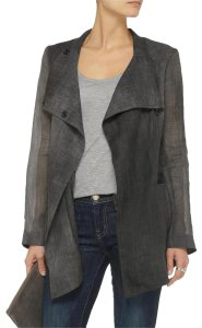 Elizabeth and James Jacket Spring Fall Sheer Grey Blazer