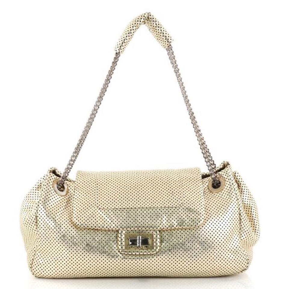 833b3fc9ac39 Chanel Classic Flap Perforated Large Gold Leather Shoulder Bag - Tradesy