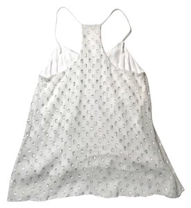 Ella Moss Top white silver