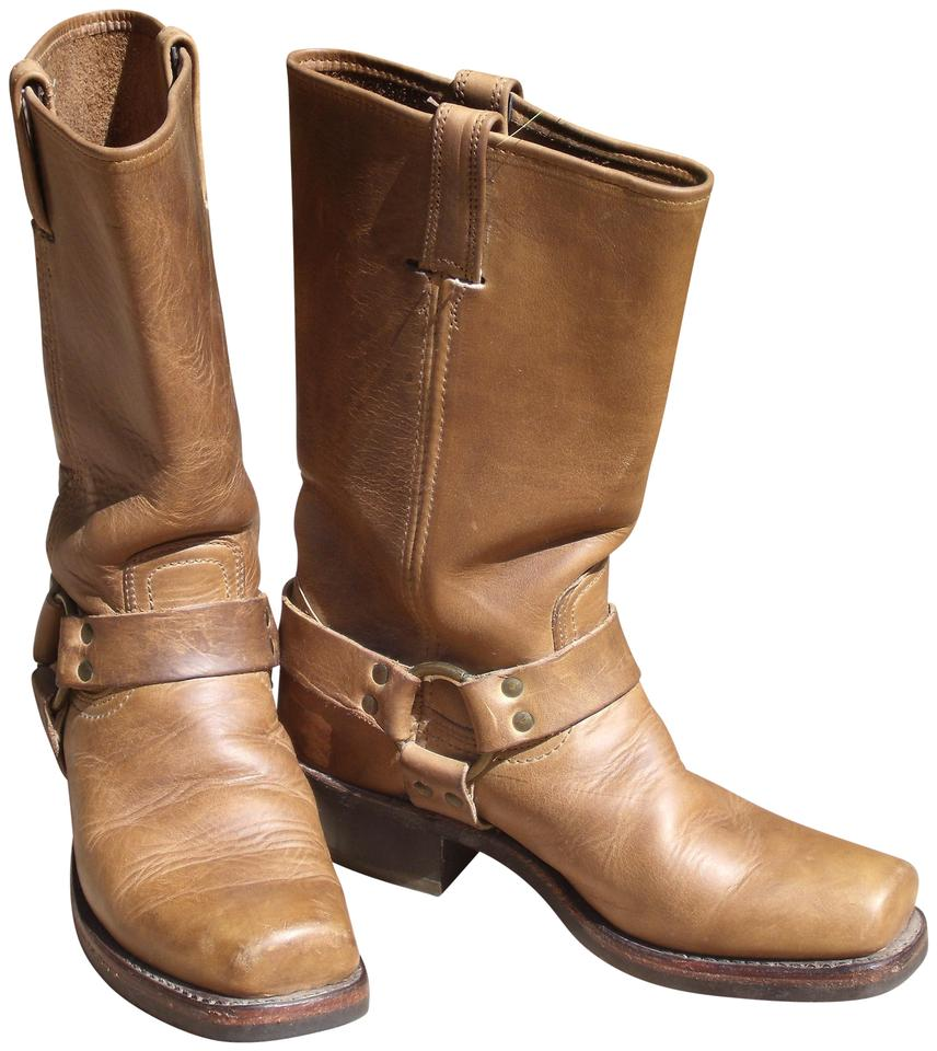 Frye Motorcycle Camel Brown Harness Leather Motorcycle Frye Boots/Booties 39be86
