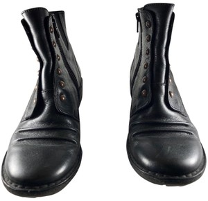 Kickers Leather Black Boots