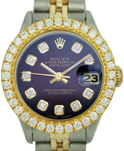 Rolex Rolex Lady Datejust 1.60CTW Bezel Diamond Dial Jubilee Band 26mm Watch