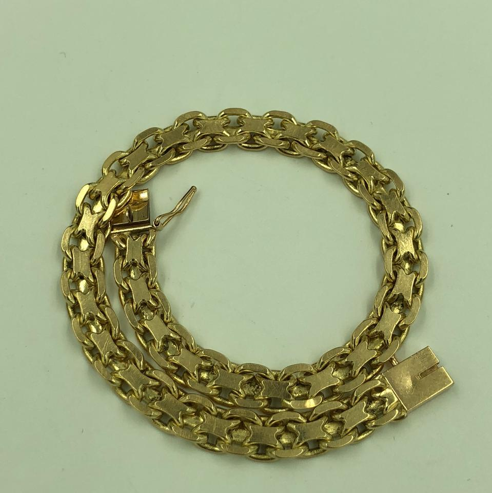 Double Sided Link Bracelet 14kt Yellow Gold