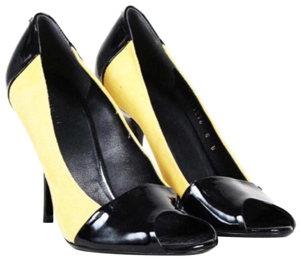 Gucci Black   Yellow Bacall Pumps Size EU 36 (Approx. US 6) Wide (C ... df12601707a