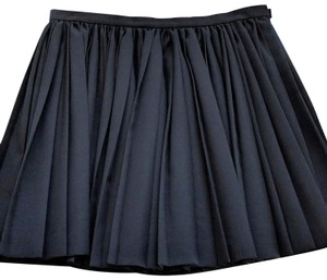 Dior Pleats Pleated Mini Skirt Black