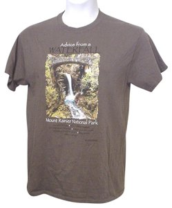 Gildan Rainier Taupe Medium T Shirt