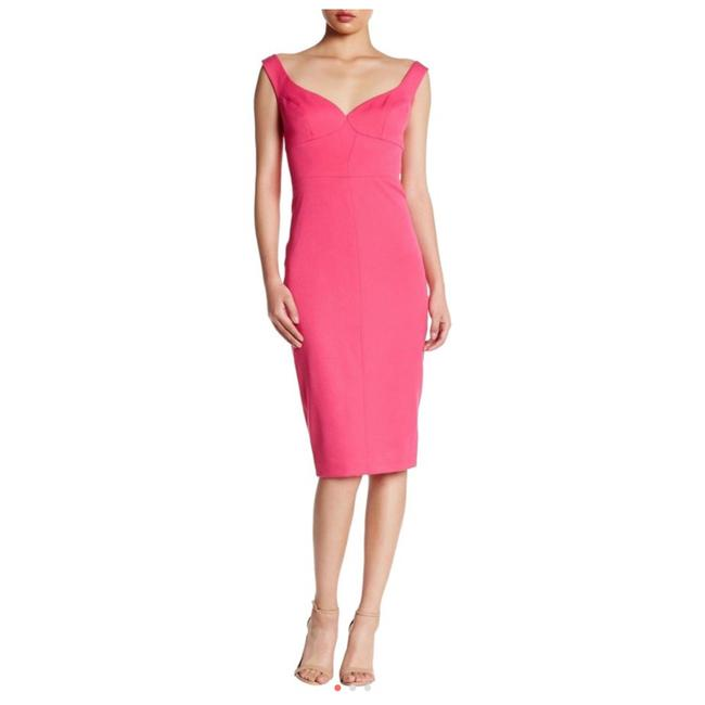 Item - Pink Ally Sheath Mid-length Cocktail Dress Size 2 (XS)