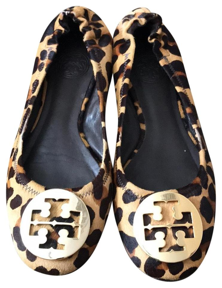 841e28f9e71 Tory Burch Leopard Minnie Travel Ballet Flats Size US 6 Regular (M ...