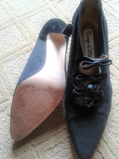 coup d'etat Suede And Licra Leather Sole High Heels Made In Spain black Pumps