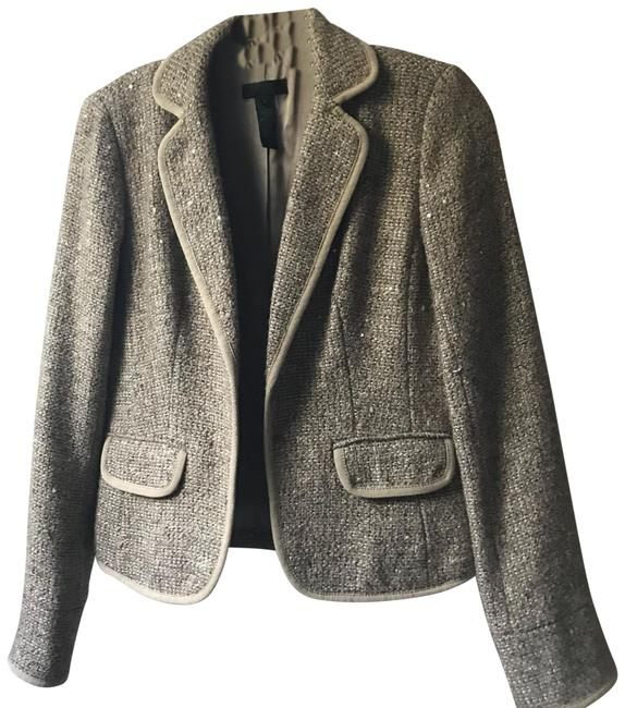 Item - Taupe Collection Sequin Tweed Blazer Size 4 (S)