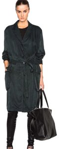 Ann Demeulemeester Silk Duster Trench Coat