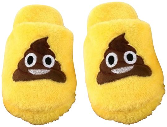Preload https://img-static.tradesy.com/item/24061593/yellow-brown-funny-poop-slippers-new-02-3839-l-10-3637-9-flats-size-eu-36-approx-us-6-regular-m-b-0-1-540-540.jpg