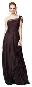 Theia One Shoulder Beaded Silk Dress