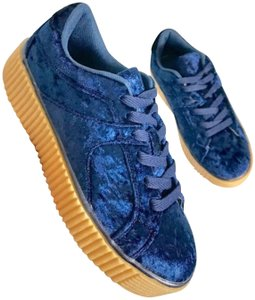 Other Velvet Lace-up Blue Athletic