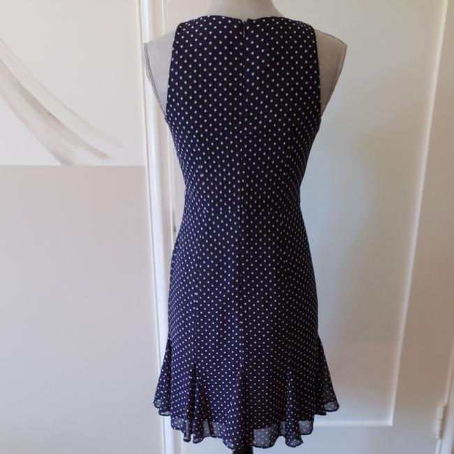 Kate Young for Target short dress Navy blue with white polka dots on Tradesy