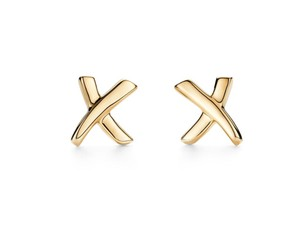 "Tiffany & Co. Tiffany & Co Paloma's Picasso Graffiti ""X"" Studs Earrings 18 Karat"
