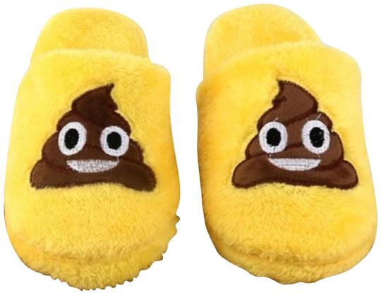 Preload https://img-static.tradesy.com/item/24061698/yellow-brown-funny-poop-slippers-new-02-3839-l-10-flats-size-eu-38-approx-us-8-regular-m-b-0-1-540-540.jpg