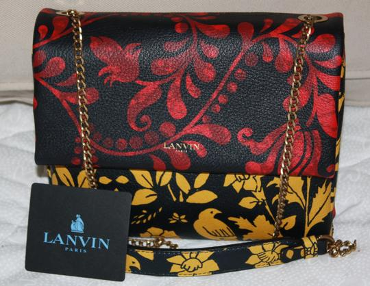 Lanvin Neutral Leopard Calf Hair Cross Body Bag