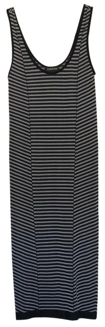 Preload https://img-static.tradesy.com/item/24061735/bebe-black-and-gray-stripes-mid-length-short-casual-dress-size-0-xs-0-1-650-650.jpg
