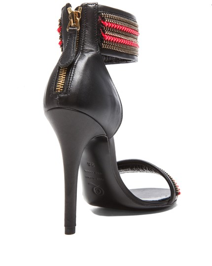 Alexander McQueen Black and Red Sandals