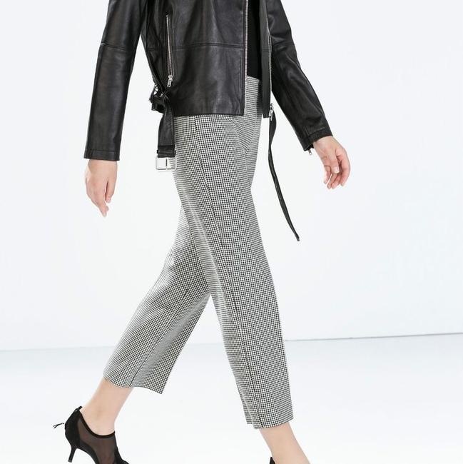 Zara Wide Leg Pants black white